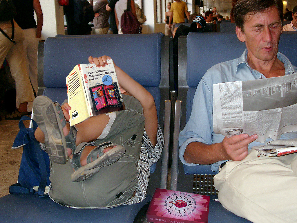 Airport with HJR books
